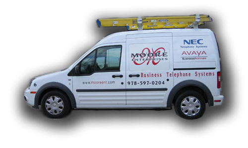 Moore Enterprises Truck - Business Telephone System Installation - Voice & Data Network Cabling